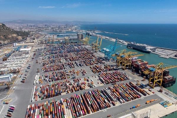 puerto de barcelona trafico de contenedores