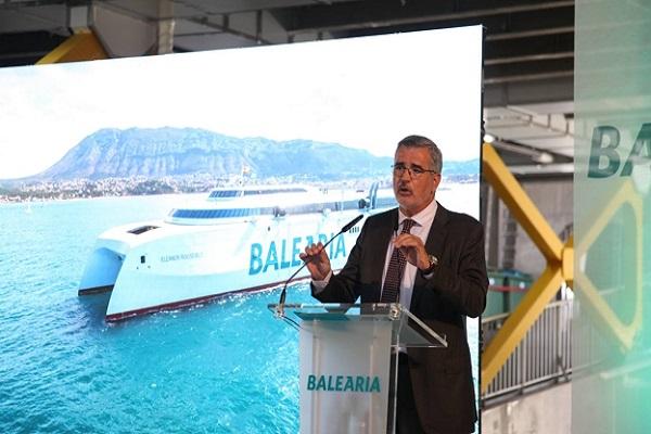 Baleària presenta el fast ferry Eleanor Roosvelt en Denia