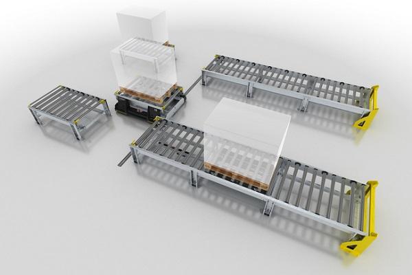 Interroll presenta nuevo transportador de palets inteligente