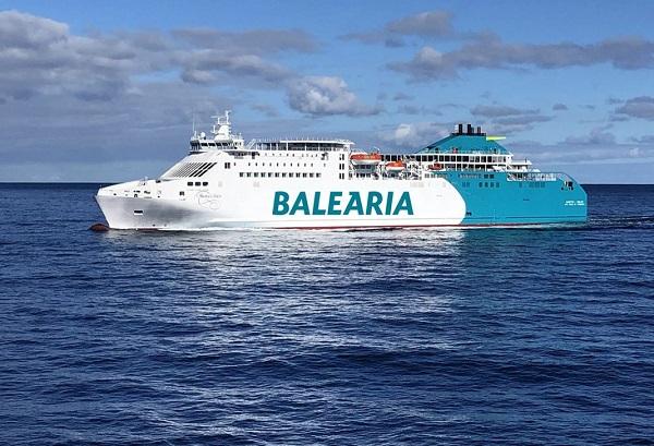 Baleària ya navega con su octavo buque propulsado a GNL