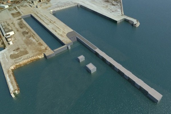 El Puerto de Algeciras avanza en las obras del muelle norte de Campamento