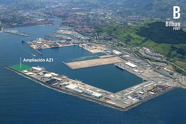 El Puerto de Bilbao otorga las obras de ampliación del muelle AZ-1
