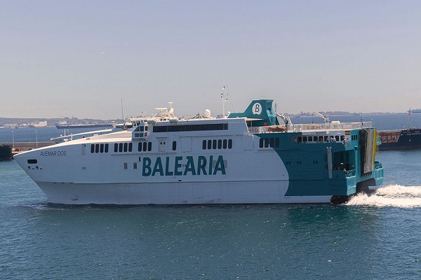 El ferry Avemar Dos se incorpora a la ruta Ceuta-Algeciras de Baleària