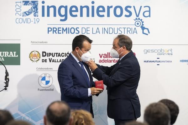 El Presidente de IVECO España recibe el galardón de Honor en los IV Premios de la Industria de Valladolid