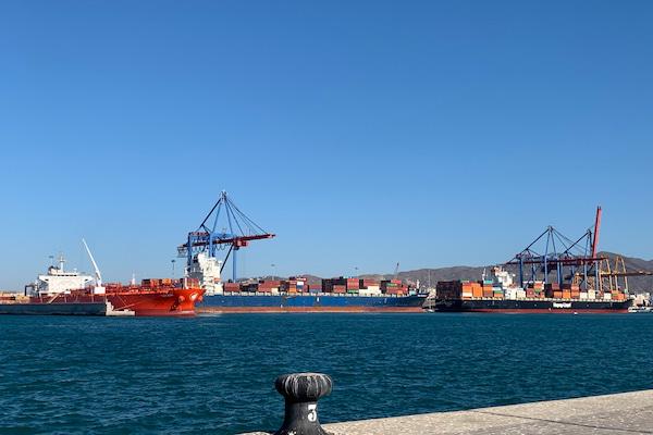 El Puerto de Málaga incrementa un 60% el tráfico de mercancías hasta agosto