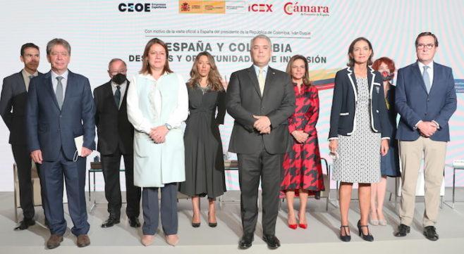 España y Colombia celebran un acto empresarial para consolidar las relaciones comerciales bilaterales
