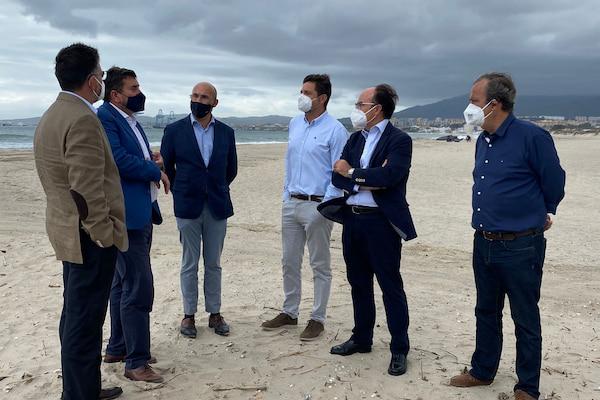 La APBA y Costas firmarán un acuerdo para agilizar las actuaciones en la Playa del Rinconcillo