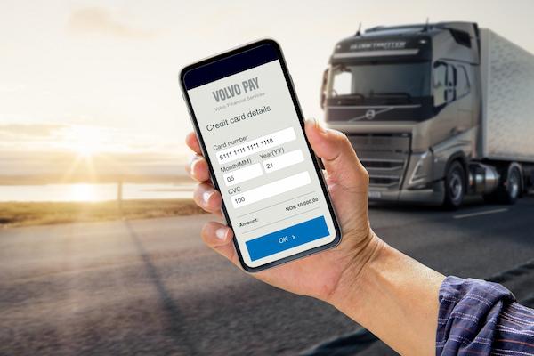 Volvo Pay, la nueva forma de pago a través de dispositivo móvil de Volvo Trucks