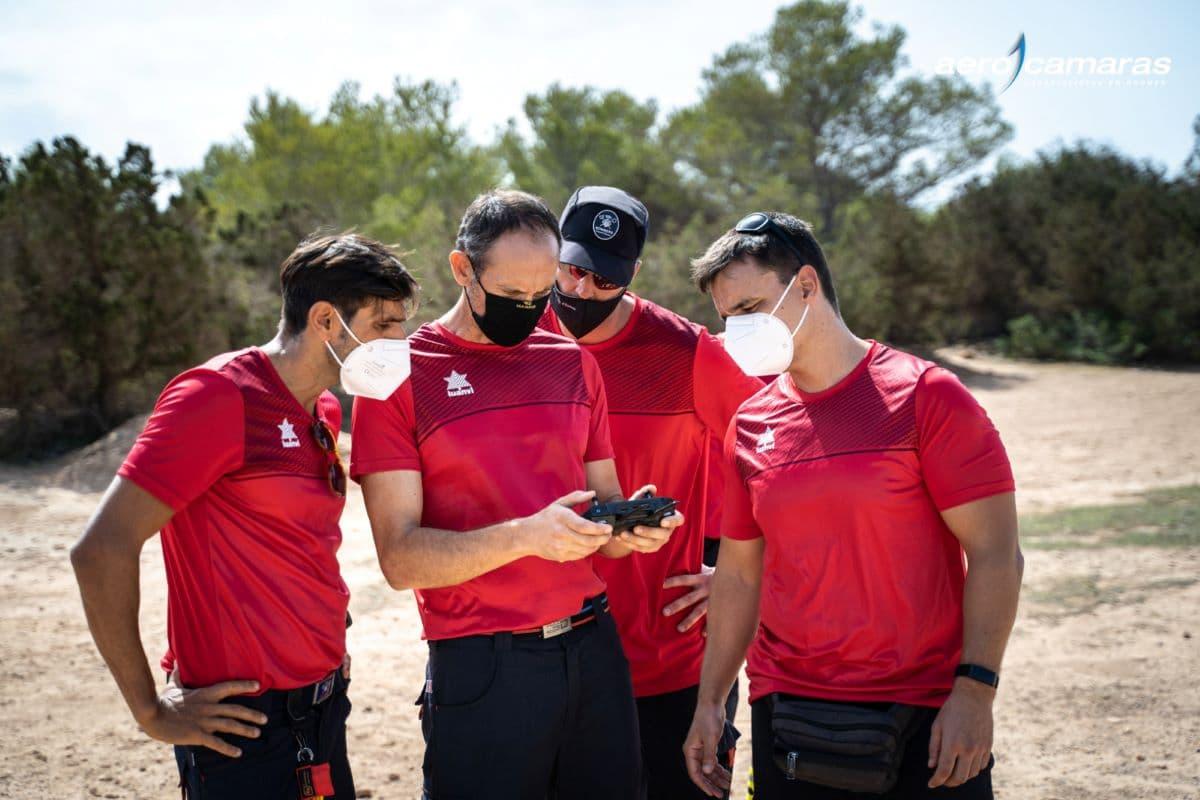 Drones bombero en Ibiza