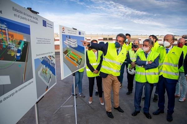 Puerto de Santander inicia las obras de la estación de suministro de GNL